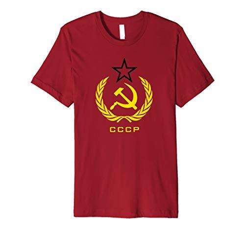 CCCP T-Shirt sowjetischen Russland Hammer Sichel Erwachsene T-Shirt