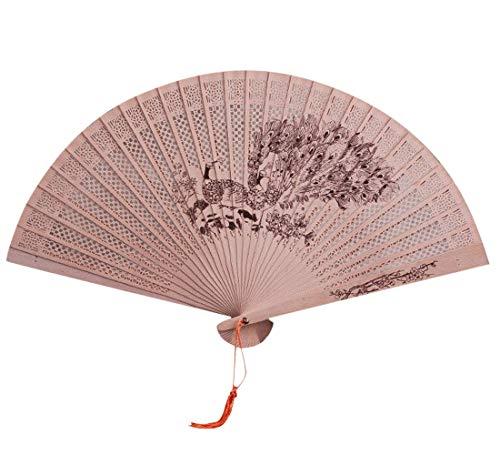 Beste Chinesische Art Tanz Hochzeitsgast Spitze Seide Falten Hand Blume Fan Folding Fans Fans mit Quaste Frauen Ausgehöhlten Bambus Hand Halten Fans für Wanddekoration Geschenke Modely (F) (Nase Kostüm Spitzen)