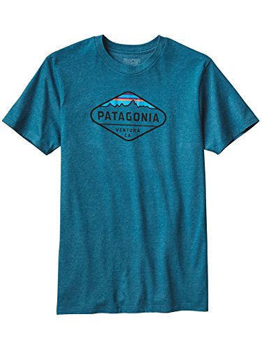 """Herren Klettershirt / T-Shirt """"Fitz Roy Crest"""" Blau"""
