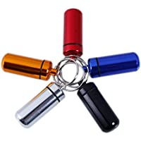 MUANI 3pcs Aluminiumpille Kasten Kapsel Flasche Drug Halter Behälter Keychain preisvergleich bei billige-tabletten.eu