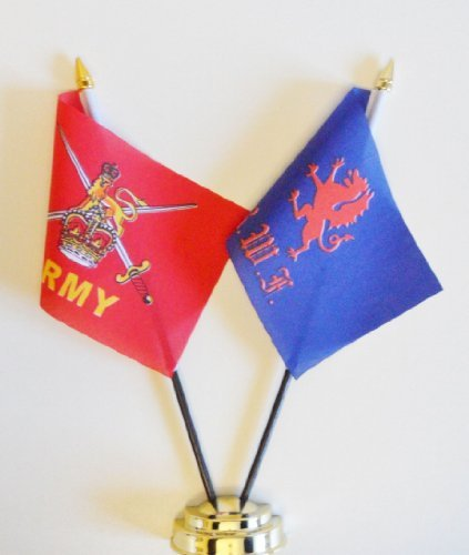 british-army-and-royal-welch-fusiliers-friendship-table-flag-display-25cm-10