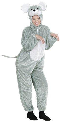 Widmann 9269B - Erwachsenenkostüm Maus, Overall mit Maske, Größe M / - Graue Maus Kostüm Für Erwachsene