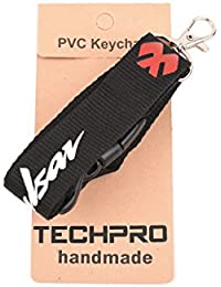 Techpro Fabric Locking ID Tag ID Card Holder With Pulsar Black And Red Logo ID Tag