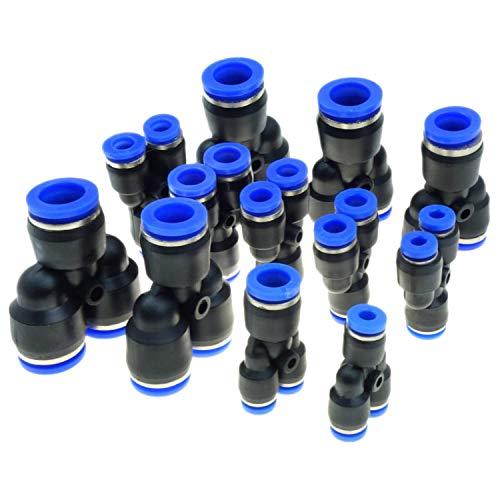FLY-plant Tube OD 3 Voies en Forme de Y Connecteur pneumatique 4 mm 6 mm 8 mm 10 mm 12 mm Raccord Rapide égal ou réduit Classique for Tube OD 6mm -4mm