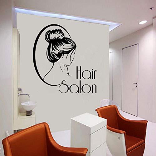 Qzheng Friseur Wand Applique Vinyl Aufkleber Friseur Friseur Spiegel Fenster Dekoration Friseur Haarschnitt Haar Dekoration 57 * 62 Cm