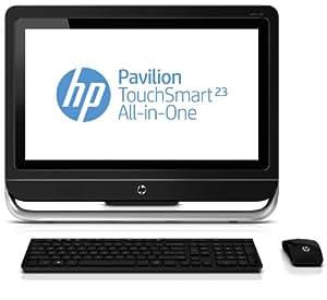 """HP Pavilion 23-f240ef Ordinateur de bureau Tout-en-Un Tactile 23"""" (58,42 cm) Intel Core i3 3240 3,4 GHz 1000 Go 4096 Mo NVIDIA GeForce 710A 1 Go Windows 8 Noir"""