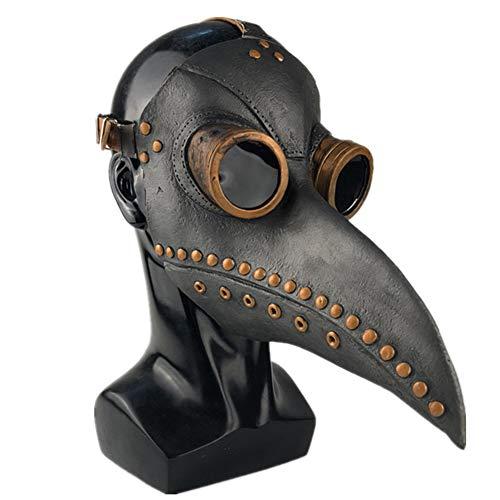 GPAN Plague Doctor Mask Halloween Scary MaskeCosplay Maske Doktor Arzt Kopf (Arzt Namen Für Halloween Kostüm)