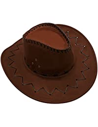 GHONLZIN Cowboy Hat Cowgirl Hats with Wide Brim 0c1e482ad5e0