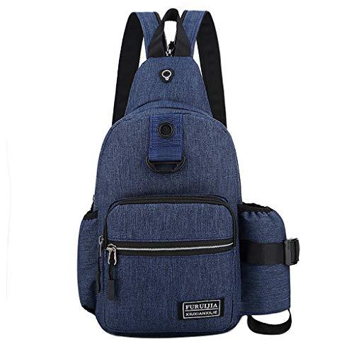 B-commerce Herren Männer Oxford Tuch Abzeichen Brusttasche Wilde Kleine Tasche Mode Taschen Laufen Sport Outdoor Umhängetasche Für Mann