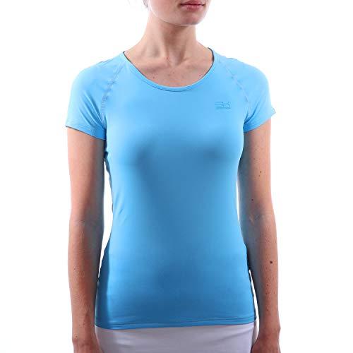 Sportkind Mädchen & Damen Tennis/Fitness / Sport T-Shirt, hellblau, Gr. XXL