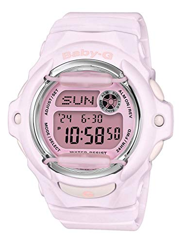 CASIO Damen Digital Quarz Uhr mit Harz Armband BG-169M-4ER