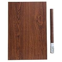 رول ملصق أثاث خشبي لملصقات الحائط ذاتي اللصق من هاوكهوم بني