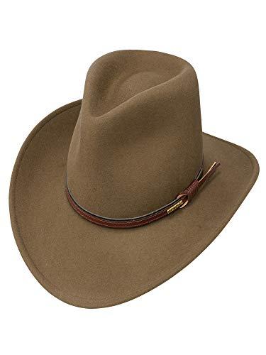 Stetson Men's Bozeman Wool Felt Leather Hatband Outdoor Cowboy Hat - Light Brown -