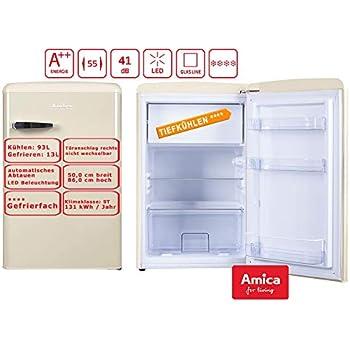 Amica KS 15615 B Kühlschrank Retro Design Freistehend 55cm Beige Neu