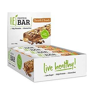 HEJ Protein Bar - Eiweiß-Riegel ohne Zuckerzusatz - Protein-Riegel Low Carb -...