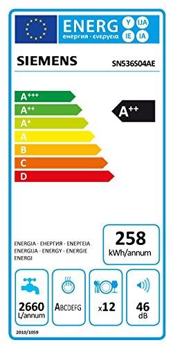 Siemens SN536S04AE Geschirrspüler Teilintegriert / A++ / 258 kWh/Jahr / 2660 L/jahr / 6 Programme / 3 Sonderfunktionen / grau