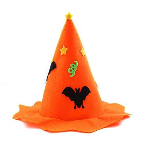 Huyizhi Zubehör für Mädchen Kinder Cosplay Dekorationen Kappe Kürbis Hut für Halloween Haarschmuck (Orange)