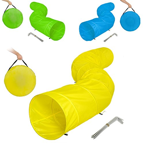 tectake-xxl-agility-tunnel-dog-training-obedience-toy-play-exercise-500cmx60cm-incl-12-pegs-carrying