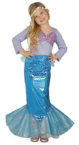 Kostüm Meerjungfrau für Mädchen Nixe Meerjungfraukostüm Kinderkostüm Gr. 110-146, - Kleine Meerjungfrau-kostüme