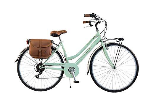 Via veneto by canellini bicicletta bici citybike ctb donna vintage retro via veneto acciaio verde chiaro taglia 46