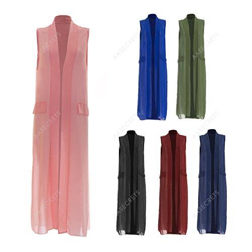 Generic Damen Kimono Kleid Schwarz schwarz One size Königsblau