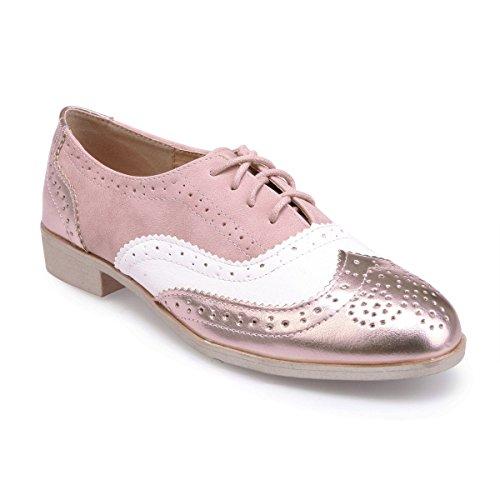 oro Oxford Materiali Oro Rosa Fashionista In Due Rosa Di Tricolore Bianco E q6rxwt6