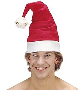 WIDMANN?Sombrero Papá Noel Navidad con campanas Unisex-Adult, rojo, talla única, vd-wdm1503p