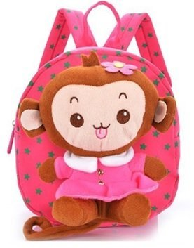 Baby Rae Toddler Kid Walking Safety Leash Backpack with Detachable Cute Monkey Stuff Animal (Pink Monkey) by Baby Rae
