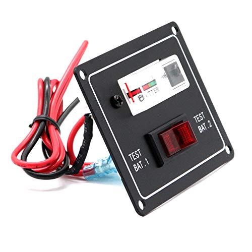 jEZmiSy, Tester, Batterietester, Digital Multimeter Messgerät, DC12V Auto Fahrzeug Boot Marine Caravan Dual Schalter Panel Meter Gauge