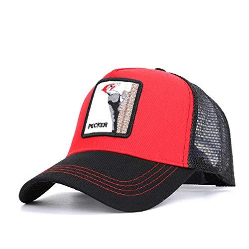Lkw Fahrer Kostüm - Perfectone Sommermode-LKW-Fahrer, schwarzer Hut der Haustierfarm-Sammlung, verstellbar, rot