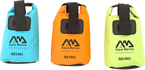 Aqua Marina Bolsa Seca MINI Impermeables Mochila Bolsillo Bolso marinero Bolsa Kayak Canoa 7.5 l - Green - Volumen: 7,5 l - protege contra las Humedad, Agua, Suciedad, Arena y Daños - Dimensiones: 13,4x36 cm - Ligero y compacto