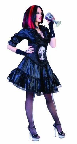 Funny Fashion 504169 - Vampir-Lady Gothic, Größe (Kind Kostüm Teufel Freche)