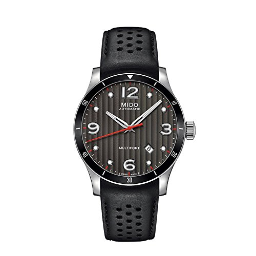 Mido Herren Analog Automatik Uhr mit Leder Armband M0254071606100