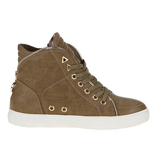 Damen Schuhe, N-8, FREIZEITSCHUHE Khaki