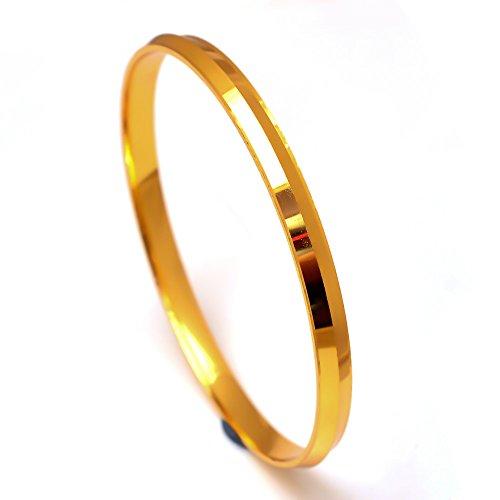 Jewar mandi Bracelet Men\'s 2.10 Inches One Two Gram Gold Plated Kada Jewelry 7451