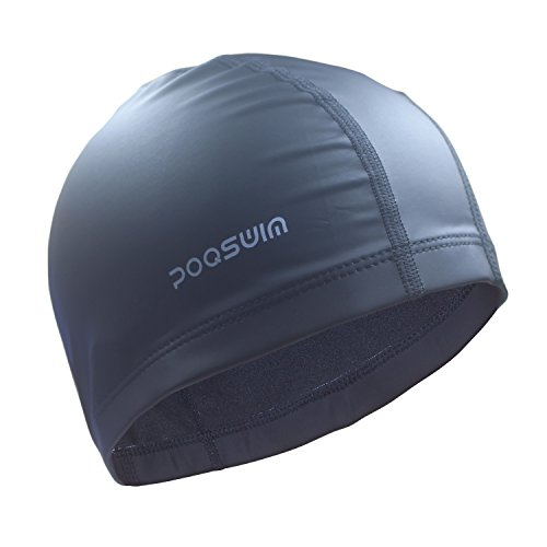 poqswim-lycra-swim-cap-with-pu-coat-swim-hat-can-fit-long-hair-swim-capblack