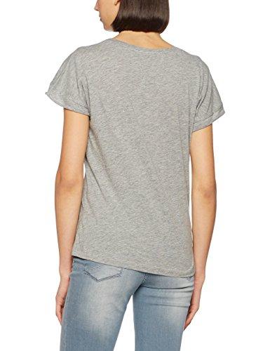 Vero Moda Vmvalentine Ss Top Box Jrs, T-Shirt Donna Grigio (Light Grey Melange)