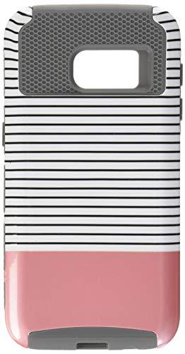ULAK iPhone 6s hülle, iPhone 6 hülle Dual Layer Case Cover Hybrid Schild TPU + PC Hard Case Cover für iPhone 6s / 6 4,7 Zoll (Roségold Streifen + Grau) Gummi Hard Case Cover