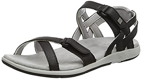 Regatta Lady Santa Cruz, Women's Sandals, Black (Black/Gryash), 4 UK