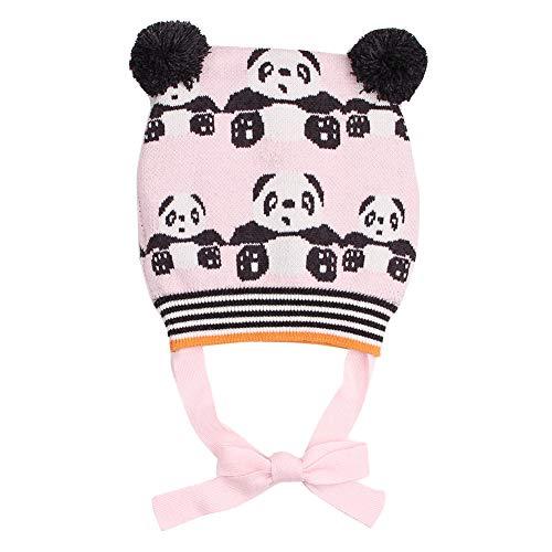 66bf094679ca Happy Cherry Bonnet en Laine Bébé Fille Garçon Bonnet Animal Panda Bonnet  Tricot Hiver Enfant Chapeau