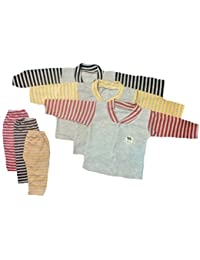 BabyBlossom Baby Boy's and Girl's Front Open Thermal Top & Pyjama Set, Pack of 3 (BBTHERMO1, Multi-Colour, 3-6 Months)