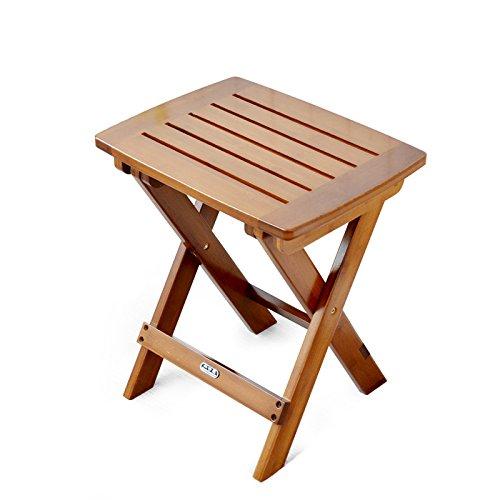 Iaizi sgabello pieghevole portatile in legno massello mazar sedia da pesca all'aperto piccolo sgabello sgabello sgabello (colore : marrone, dimensioni : length 32.5cm)