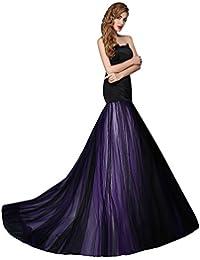 6516149d9 Tubo negro capilla vestido de Escote Corazón sin mangas del tizón del lazo  de Corte Sirena