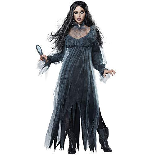 Zombie Miss Kostüm - Miss Y Halloween Ghost Bride Zombie Kostüm Cosplay Vampire Devil Game Drama Dress Up Kostüm,XL