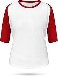 Baseball / Kontrast Shirt | 3/4 Arm für Damen
