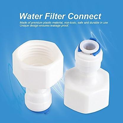 Conector Rápido 1/4 Tubo OD a 1/2 Empuje Hembra En Conector Rápido Para ósmosis Inversa De Filtro De Agua 6pcs