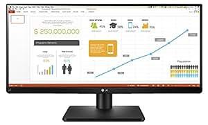 """LG 34UB67 Monitor da Office 34"""", 21:9 UltraWide LED IPS, 2560x1080, Multitasking, Audio 2.0 14W, Regolazione Altezza, Inclinazione e Rotazione"""