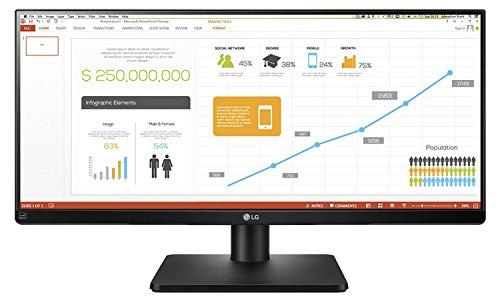 LG 34UB67-B.AEU 86,4 cm (34 Zoll) PC-Monitor (DVI, HDMI, Display Port, USB 3.0, IPS 21:9, 2560 x 1080, 5 ms Reaktionszeit) mattschwarz