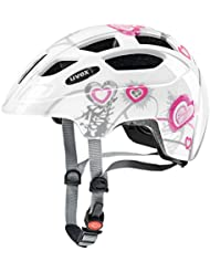 Uvex 414807 - Casco de Ciclismo, blanco / rosa, 51-55 cm