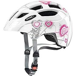 Uvex Finale - Casque de Vélo - Mixte Enfant - Blanc (Heart White Pink) - Taille: 51-55 cm